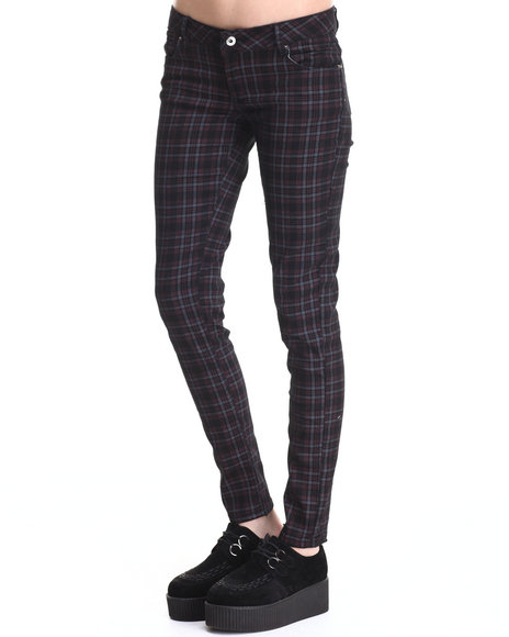 Fashion Lab - Women Grey Skinny Plaid Pant