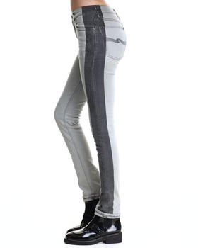 Nudie Jeans - High Kai Black on Bleach Jeans