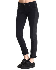 Nudie Jeans - Tight Long John Two Toned Black on Black Denim