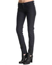 Skinny - Black Navy Tight Long John Jeans