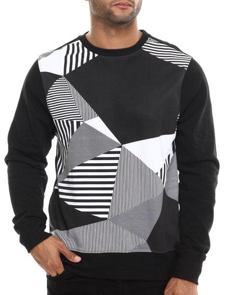 Enyce - Men Black Pos Geo Print Sweatshirt