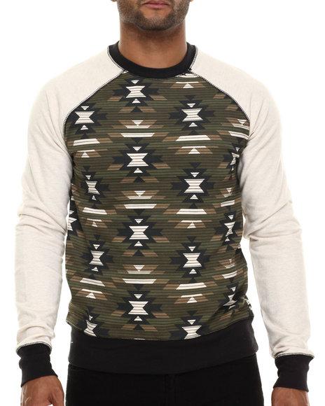 Ur-ID 186197 Buyers Picks - Men Off White,Camo Military Raglan Sweatshirt