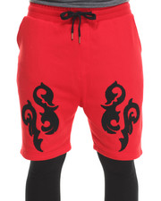 Basic Essentials - Printed Lightweight Double - Layer Fleece Short and Pant