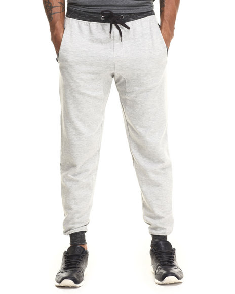 Buyers Picks - Men Light Grey Fleece Jogger W/ Back Pocket