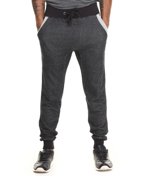 Buyers Picks - Men Black French Terry Jogger W/ Back Pocket