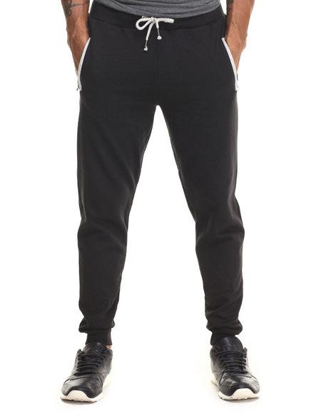 Buyers Picks - Men Black Zipper Front Pocket Sweatpant