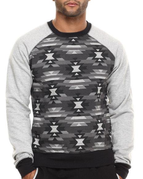 Buyers Picks - Men Grey Military Raglan Sweatshirt - $20.99