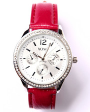 XOXO - Round Face Faux Croc Band Watch