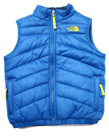 The North Face - Boys Blue Reversible Perrito Vest (5-20)