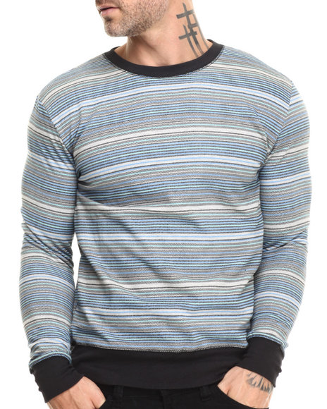 Buyers Picks - Men Black Textured Stripe Print Sweatshirt - $14.99