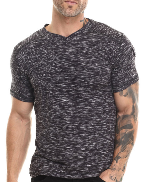 Buyers Picks - Men Black S/S V-Neck Tee