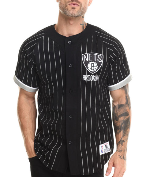 Ur-ID 222918 Mitchell & Ness - Men Multi Brooklyn Nets Nba Button Front Jersey by Mitchell & Ness