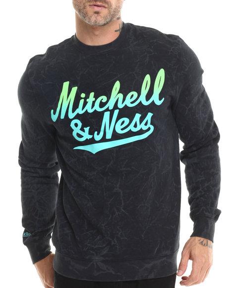 Mitchell & Ness - Men Black Mitchell & Ness Acid Wash Sweatshirt
