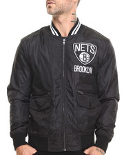 Mitchell & Ness - Brooklyn Nets NBA Play Caller Woven Jacket