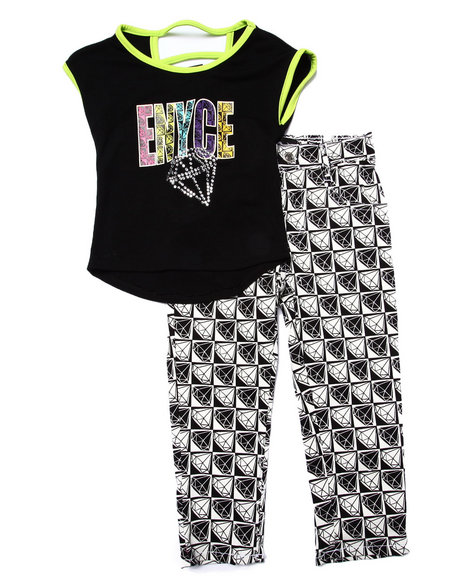 Enyce - Girls Black 2 Pc Checkered Set (2T-4T)