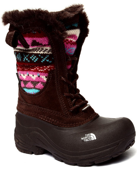 The North Face - Girls Brown Shellista Lace Novelty Boot (11-6)