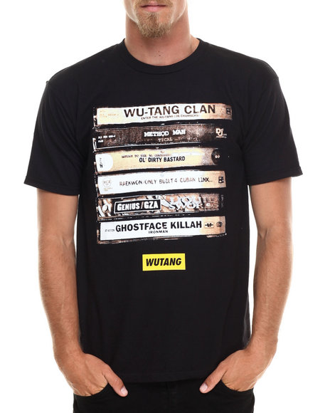 Wu-Tang Limited - Men Black Wu Tape T-Shirt - $16.99
