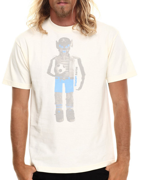 Ur-ID 186294 Skate Mental - Men Cream Soccer Doll Tee