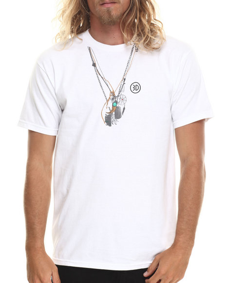 Buyers Picks - Men White Brian's Necklaces Tee - $7.99