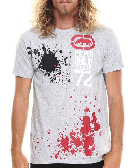Ecko - Men Grey Splatter T-Shirt