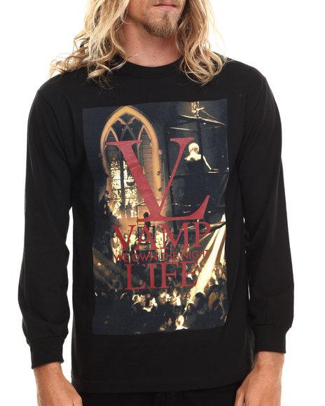 Ur-ID 186329 Vampire Life - Men Black Vamp L/S T-Shirt