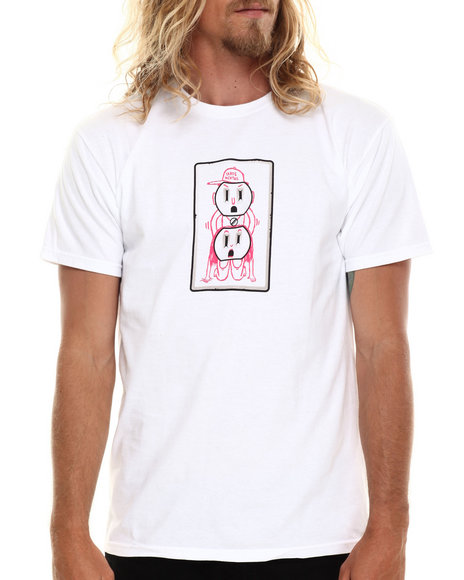 Skate Mental - Men White Outlet Cover Tee