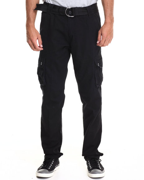 Ecko - Men Black Twill Cargo Pants