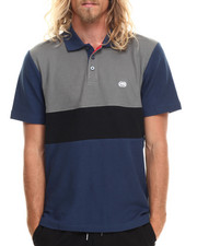 Men - Color Block Pique Polo