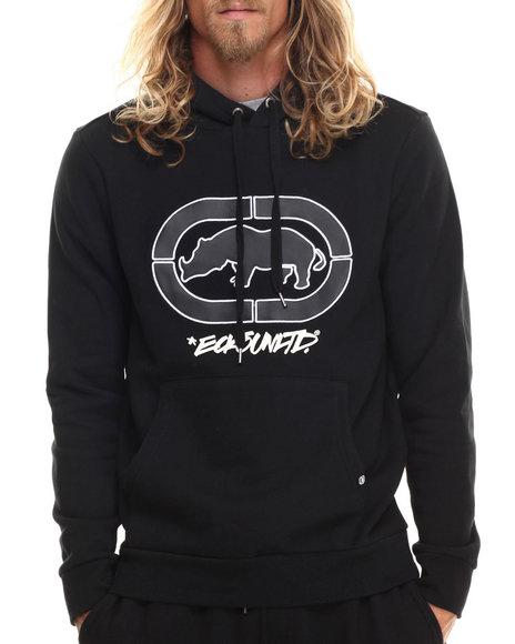 Ecko - Men Black Pullover Hoodie W/ Chest Logo