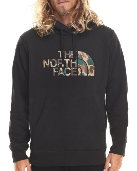 The North Face - Men Black Duckmo Camo Pullover Hoodie