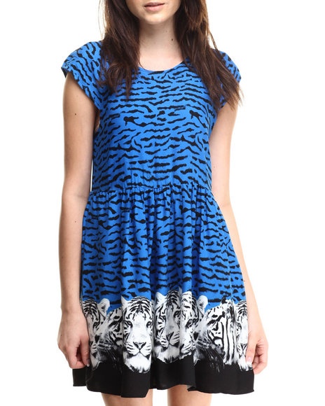 Ur-ID 186172 MINKPINK - Women Blue Tiger Night Dress