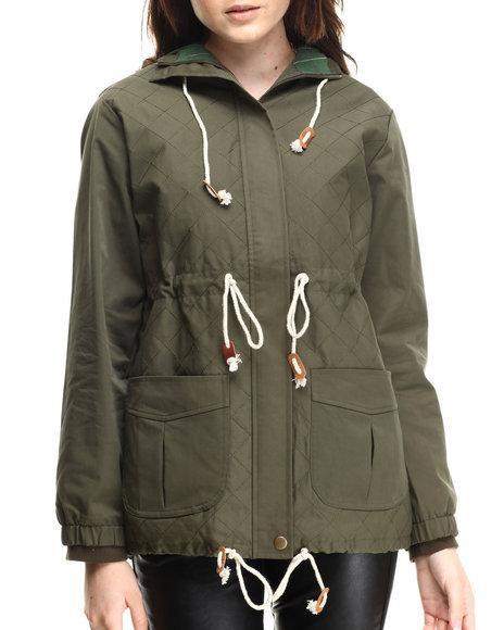 Ur-ID 186280 MINKPINK - Women Olive Mash Jacket