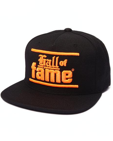 Hall Of Fame Men Bars & Hooks Snapback Cap Black