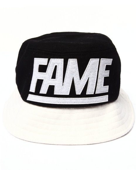 Hall Of Fame Men Melton Fame Block Bucket Hat Black