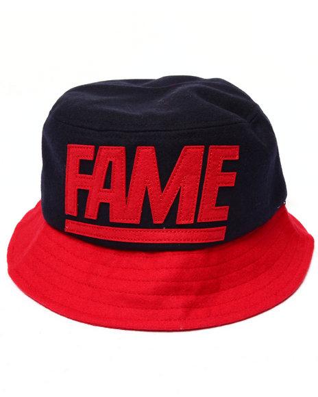 Hall Of Fame Men Melton Fame Block Bucket Hat Navy