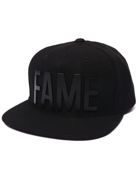 Hall Of Fame Men Metal Ewing Snapback Cap Black