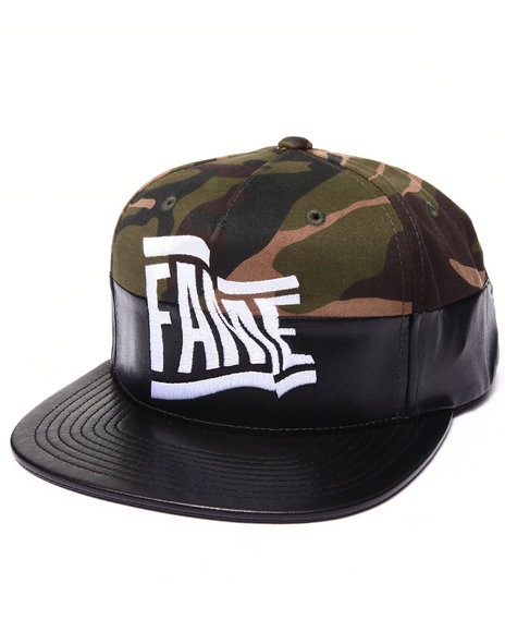 Hall Of Fame Men Wavy Snapback Cap Camo