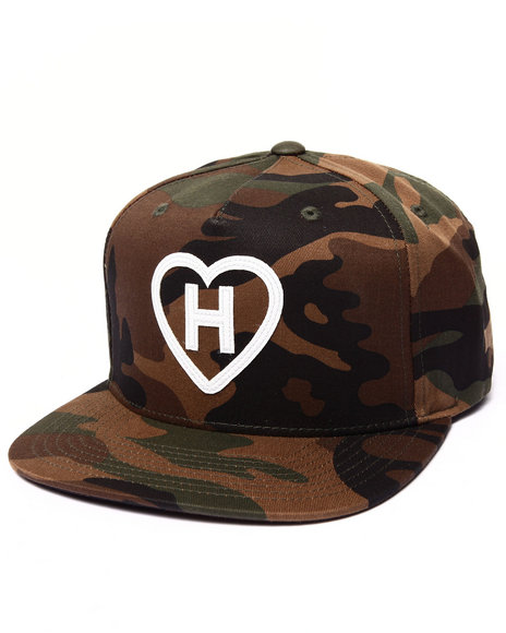 Hall Of Fame Men H Love Snapback Cap Camo
