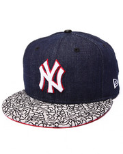 "Men - New York Yankees ""NYC Denim & Elephant print"" custom 950 snapback Hat (Drjays.com Exclusive)"
