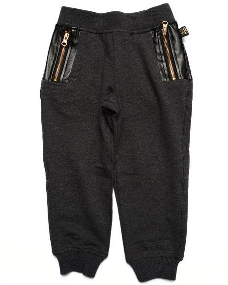 Akademiks - Boys Grey Pu Knit Jogger (2T-4T)