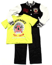 Sizes 4-7x - Kids - 3 PC SET - VARSITY JACKET, TEE, & JEANS (4-7)