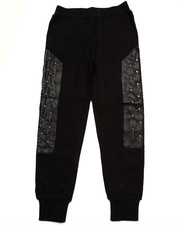 Sizes 8-20 - Big Kids - PU STUDDED SWEATPANTS (8-20)