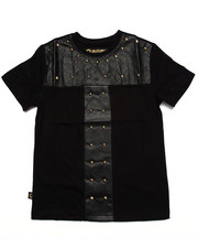 Sizes 8-20 - Big Kids - QUILTED STUDDED TEE (8-20)