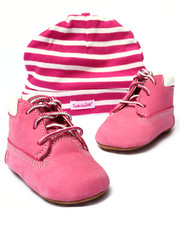 Girls - Crib Bootie with Hat