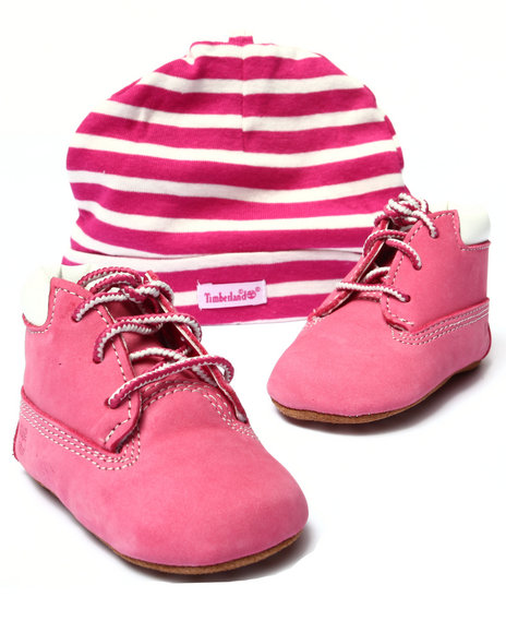 Timberland - Girls Pink Crib Bootie With Hat - $45.00