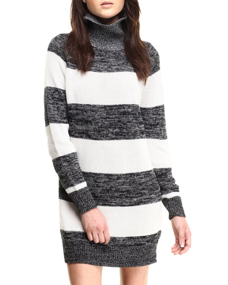 Minkpink - Women Black,White Crims Sweater Dress