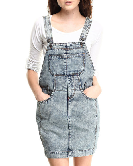 Evil Twin - Women Medium Wash Fairfax Denim Pinnie Dress - $39.99