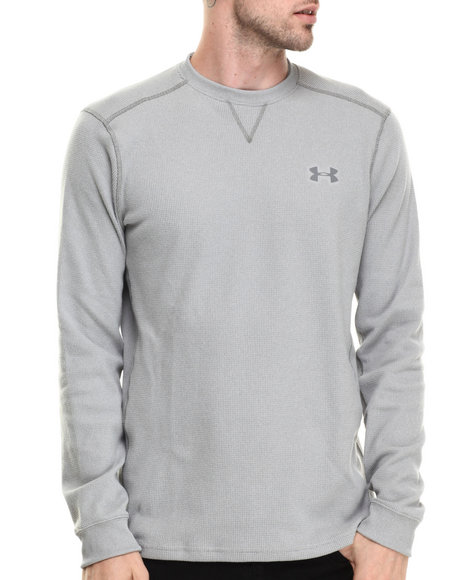 Ur-ID 186368 Under Armour - Men Grey Amplify L/S Thermal Shirt (Traps Warmth & Anti-Odor Technology)