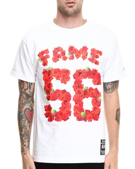 Hall Of Fame - Men White Rose Bowl Tee - $18.99