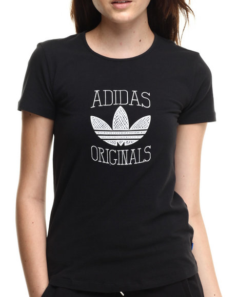 Adidas - Women Black Slim Graphic Tee